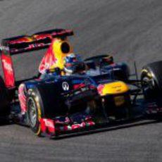 Sebastian Vettel en los entrenamientos de pretemporada