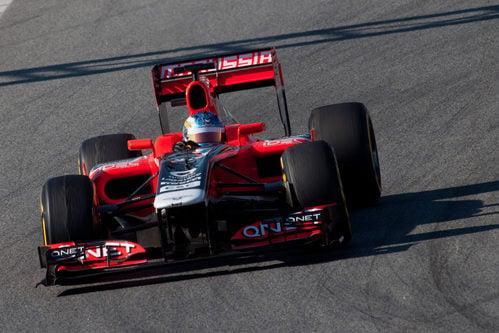 Charles Pic en Barcelona con Marussia
