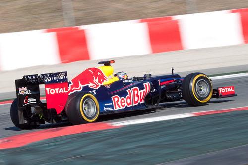 Red Bull RB8 de Vettel en el Circuit de Catalunya