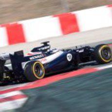 Bottas con el FW34 en pretemporada