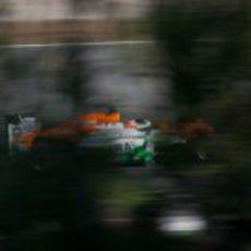 Nico Hülkenberg en la pista de Catalunya