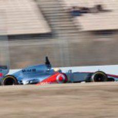 El McLaren de Lewis Hamilton en los test