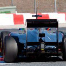 Vista trasera del McLaren de Lewis Hamilton