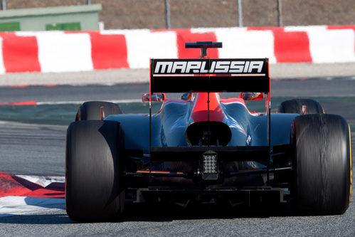 El Marussia de Pic en los test de Barcelona