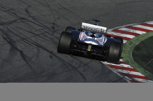 El Williams de Bottas en plena curva
