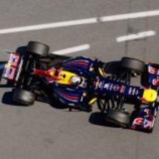 El Red Bull RB8 de Vettel desde arriba en Barcelona