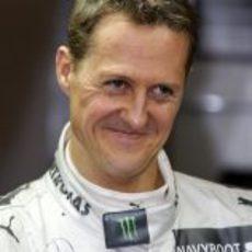 Michael Schumacher sonriente en Barcelona
