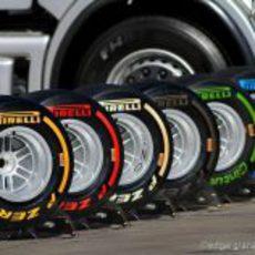 Neumáticos Pirelli en los test de Barcelona