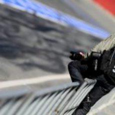 Fotógrafos en los test de Fórmula 1