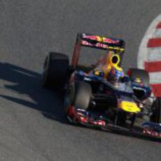Mark Webber en los test de Barcelona