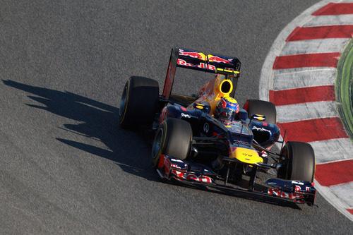 Mark Webber en los test de Barcelona