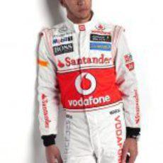 Lewis Hamilton con la equipación de McLaren de 2012