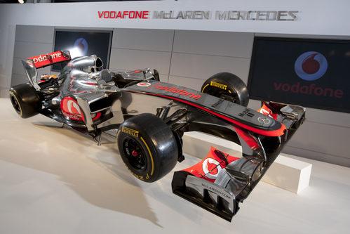 El McLaren MP4-27 en su presentación