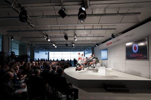 Mucha prensa en la presentación del McLaren