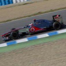 Jenson Button con el McLaren en Jerez