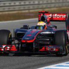 Lewis Hamilton en los test de Jerez