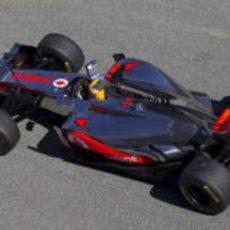 Hamilton rueda con el MP4-27 en Jerez