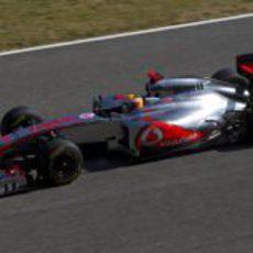 Lewis Hamilton en Jerez con el McLaren
