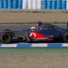 Hamilton rueda en Jerez con el McLaren de 2012