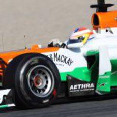 Paul di Resta rueda en Montmeló con el VJM05