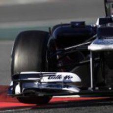 Pastor Maldonado en los test de Barcelona