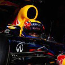 Mark Webber en los test de Barcelona con el RB8