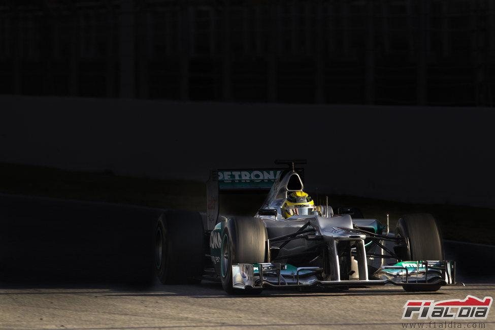El Mercedes de Nico Rosberg en los test de Barcelona