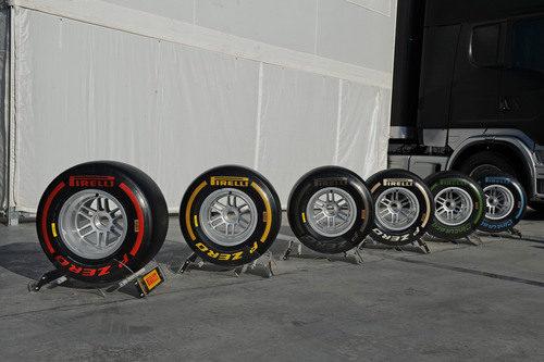 Neumáticos Pirelli para los test de Barcelona