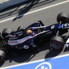Maldonado sale a pista con el FW34