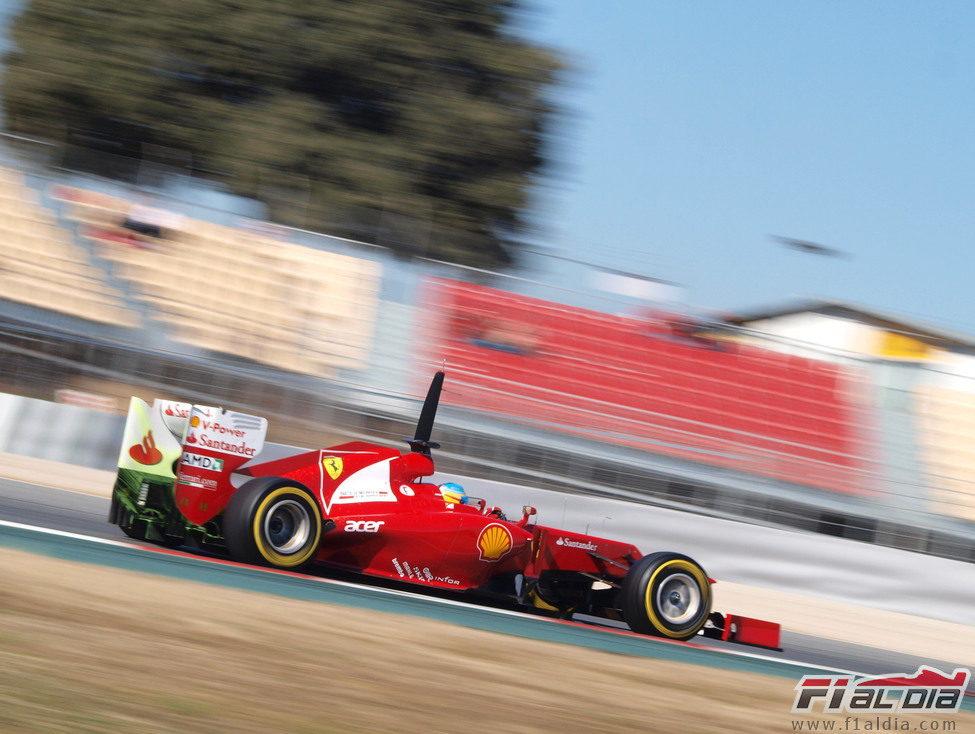 Parafina en el Ferrari de Fernando Alonso
