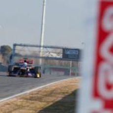 Daniel Ricciardo en el Circuit de Catalunya