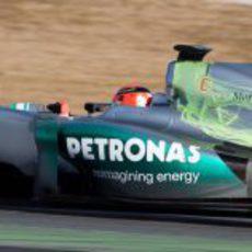 El Mercedes W03 lleno de parafina