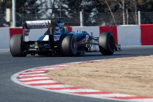 Senna al volante del Williams en los test