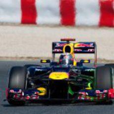 El Red Bull de Vettel con parafina