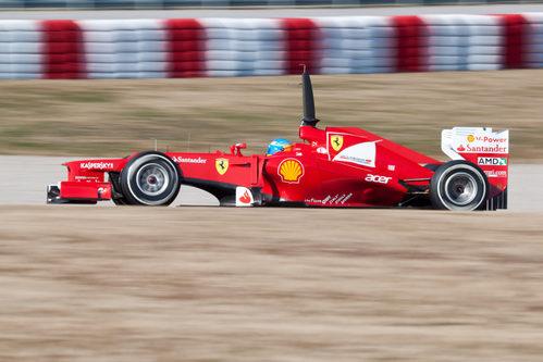 Fernando Alonso y el F2012 en pretemporada