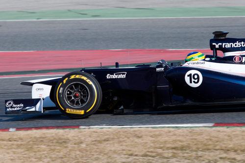 Bruno Senna en acción con el FW34