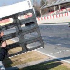Cartel para Vettel en Montmeló
