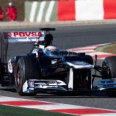Valtteri Bottas con el Williams en Montmeló