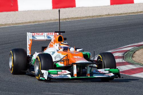 Nico Hülkenberg con el Force India en Barcelona