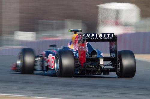 Mark Webber pisa a fondo en los test de pretemporada