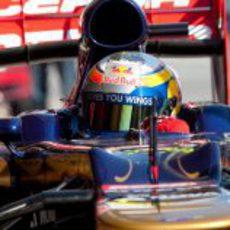 Jean-Eric Vergne en el STR7 en los test