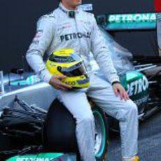 Nico Rosberg en la presentación del nuevo W03