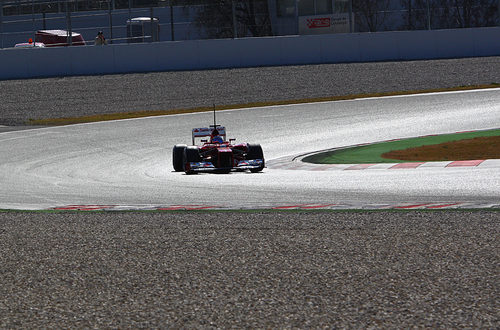 Alonso rueda en Montmeló con el F2012