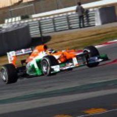 Hülkenberg rueda en Barcelona al volante del VJM05