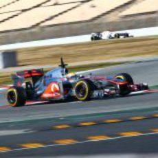 El McLaren MP4-27 en plena pretemporada