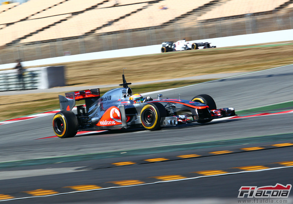 El McLaren MP4-27 en plena pretemporada