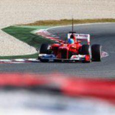Fernando Alonso en pretemporada con el F2012