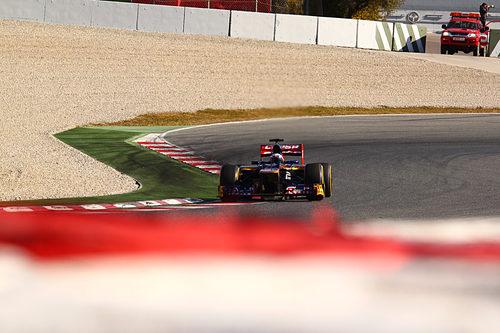 Ricciardo en el Toro Rosso en pretemporada