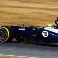 Senna al volante del FW34 en los test de Barcelona