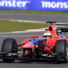 Glock al volante del Marussia MR01 en Silverstone
